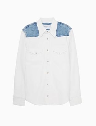 Calvin Klein Relaxed Fit Stretch Denim Foundation Western Shirt