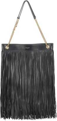 Saint Laurent Grace Large fringed leather tote