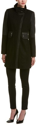 Kensie Outerwear Women's Color Block Wool Coat