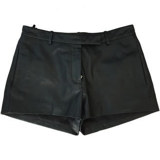 Bruuns Bazaar Black Leather Shorts for Women