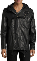 Diesel Black Gold Londolyn Leather Hooded Jacket