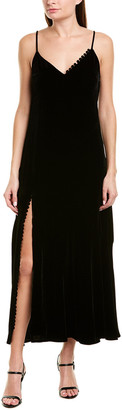 Nicholas Velvet Silk-Blend Slip Dress