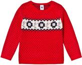 Petit Bateau Red Fairisle Knit Jumper