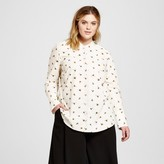 Victoria Beckham for Target Women's Plus Bee Print Button Down Top