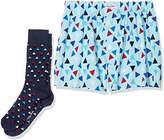 Happy Socks Men's Triangle Boxer & Sock Combo Box Trunks,pack of 2
