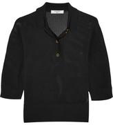 Lanvin Waffle-knit Polo Shirt - Black