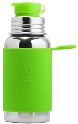Pura 550ml Kids Sport Bottle with Green Sleeve