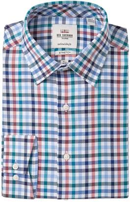 Ben Sherman Checkered Tailored Slim Fit Dress Shirt