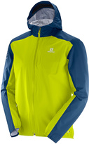Salomon Lime Punch & Dress Blue Bonatti WP Jacket - Men