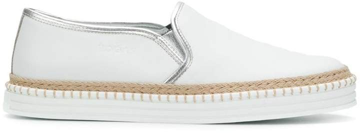 Hogan slip-on woven detail sneakers