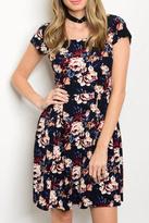 Gilli USA Black Floral Dress
