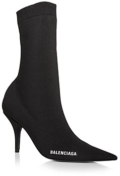 Balenciaga Women's Knife Knit High Heel Booties