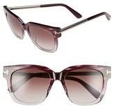 Tom Ford Women's 'Tracy' 53Mm Retro Sunglasses - Grey/ Gradient Smoke