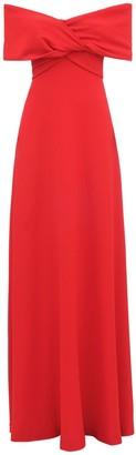 Giambattista Valli Off-The-Shoulder Crepe Long Dress