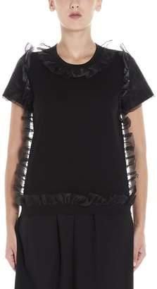 Comme des Garcons Noir Kei Ninomiya Ruffle Detail T-Shirt