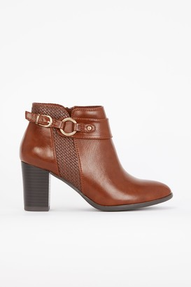 Wallis Tan Buckle Weave Boot