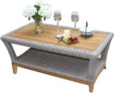 OUTDOOR INTERIORS Outdoor Interiors Wicker and Natural Teak Coffee Table
