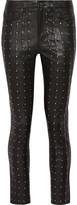 Rag & Bone Hyde studded stretch-leather skinny pants