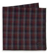hook + ALBERT Check Cotton Pocket Square