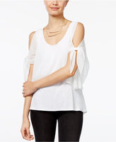 Amy Byer Juniors' Cold-Shoulder Popover Top