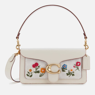 Coach Women's Signature Floral Embroidery Tabby Shoulder Bag 26 - Chalk
