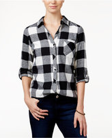 Polly & Esther Juniors' Plaid Flannel Shirt