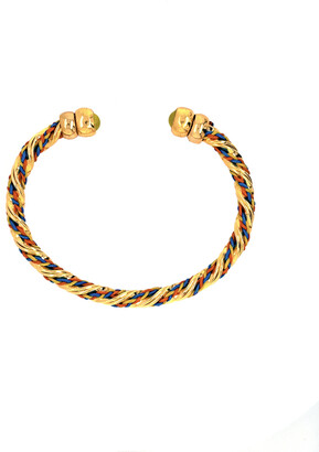 Gas Bijoux Multicolor Torride Cuff Bracelet with Yellow Stone