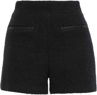 Maje Bead-embellished Boucle-tweed Shorts