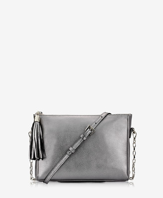 GiGi New York Hailey Crossbody, Pewter Metallic