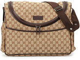 Gucci Travel GG Canvas Diaper Bag w/ Changing Pad