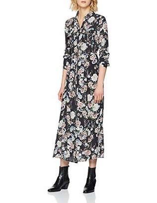 Mavi Jeans Women's Long Sleeve Dress Regular Fit 3/4 Sleeve Dress - Blue - Small