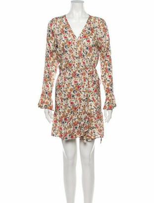 AUGUSTE Floral Print Knee-Length Dress Yellow