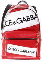 Dolce & Gabbana Red Covered Canvas Vulcano Backpack