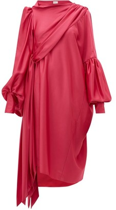 Hillier Bartley Pillowcase Satin-crepe Dress - Womens - Pink