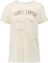 Current/Elliott The Rolled Sleeve printed linen and cotton-blend jersey T-shirt