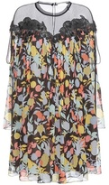 Chloé Printed Silk Georgette Dress With Lace
