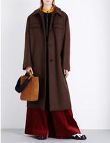 Marni Oversized single-breasted wool-blend coat