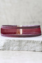 LuLu*s Perfect Blend Silver and Burgundy Choker Necklace