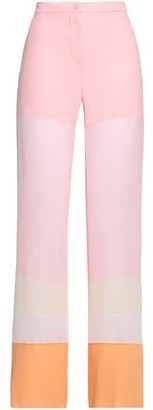Emilio Pucci Color-block Silk-chiffon Wide-leg Pants