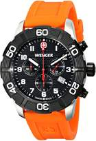 Wenger Men's 01.0853.103 Roadster Chrono Analog Display Swiss Quartz Orange Watch