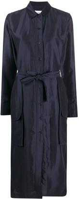 Soulland Maia satin shirt dress