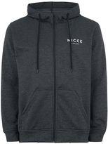 Nicce Grey Tech Zip Through Hoodie
