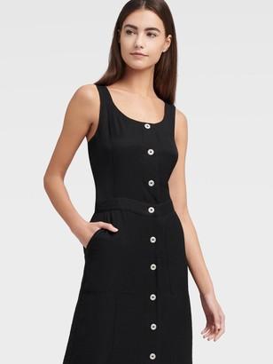DKNY Women's Pinafore Midi Dress - Black - Size XX-Small