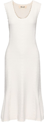 Diane von Furstenberg Flared Textured Knitted Dress