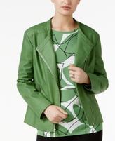 Alfani Petite Faux-Leather Moto Jacket, Created for Macy's