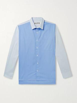 Aloye Colour-Blocked Cotton-Poplin Shirt