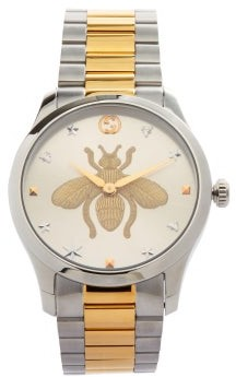 Gucci G-timeless Stainless-steel Watch - Silver Gold