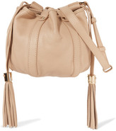 See by Chloe Vicki Mini Textured-leather Bucket Bag - Beige