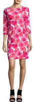 Joan Vass Floral Shift Dress