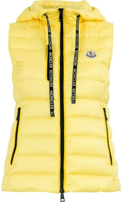 Moncler padded hooded waistcoat